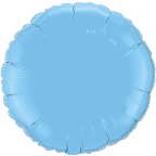 "18"" Round Pale Blue Qualatex Microfoil (5 ct.)"