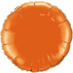 "18"" Round Orange Qualatex Microfoil (5 ct.)"