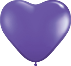 "6"" Heart Purple Violet (100 count) Qualatex"
