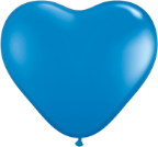 "6"" Heart  Dark Blue (100 count) Qualatex"