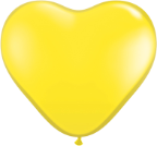 "6"" Heart Yellow (100 count) Qualatex"