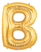 "LETTER ""B"" 40"" GOLD MEGALOON (1 PK) POLYBAG"