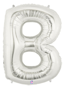 "LETTER ""B"" 40"" SILVER MEGALOON (1 PK) POLYBAG"