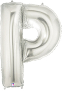 "LETTER ""P"" 40""  SILVER MEGALOON (1 PK) POLYBAG"