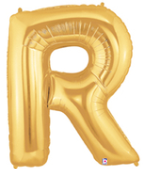 "LETTER ""R"" 40""  GOLD MEGALOON (1 PK) POLYBAG"