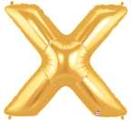 "LETTER ""X"" 40""  GOLD MEGALOON (1 PK) POLYBAG"