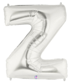"LETTER ""Z"" 40""  SILVER MEGALOON (1 PK) POLYBAG"
