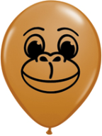 "5"" Round Monkey Face Mocha Brown (100 count.)"