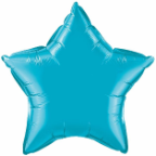 "20"" Turquoise Star Qualatex  (5ct)"
