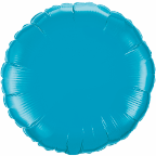 "18"" Round Turquoise Qualatex Microfoil (5 ct.)"