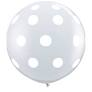 3' Round Big Polka Dot Diamond Clear (2 ct)
