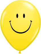 "5"" Round Smile Face Yellow (100 count)"