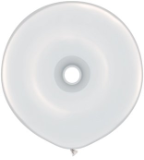 "16"" Geo Donut - White (50ct) Qualatex"