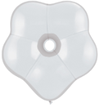 "6"" Geo Blossom - White (50 count) Qualatex"
