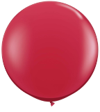 3' Round Ruby Red (2 count) Qualatex