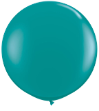 3' Round Jewel Teal (2 count) Qualatex