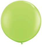 3' Round Lime Green (2 count) Qualatex