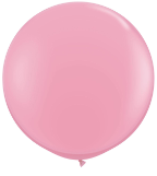 3' Round Pink (2 count) Qualatex
