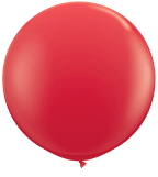 3' Round Red (2 count) Qualatex