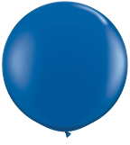 3' Round Sapphire Blue(2 count) Qualatex