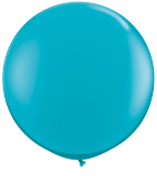 3' Round Tropical Teal (2 count) Qualatex
