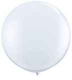 3' Round White (2 count) Qualatex