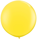3' Round Yellow (2 count) Qualatex