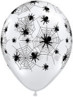 3' Diamond Clear Spider & Webs (1 ct) Qualatex