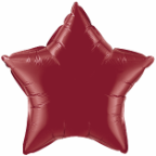 "20"" Burgandy Star Qualatex  (5ct)"