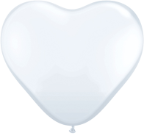 "15"" Heart - White (50 ct)"