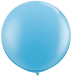 3' Round Pale Blue (2 count) Qualatex