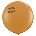 3' Round Mocha Brown (2 count) Qualatex