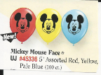 "5"" Round Mickey Mouse Face  (100 Count)"