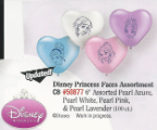 "6"" Hrt Disney Princess Faces (100 Ct.)"