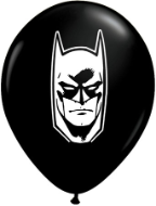 "5"" Round Batman Face -  Black (100 count)"