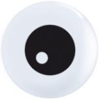 "5"" Round Friendly Eyeball Top Print (100count)"