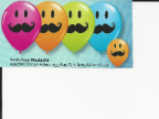 "5"" Round Smile Face Mustache Ast. (100 count)"
