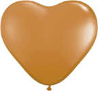 "6"" Heart Mocha Brown (100 count) Qualatex"