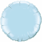 "18""  Round Pearl Light Blue Qualatex Microfoil (5 ct.)"