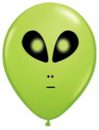 "5"" Round Space Alien Lime Green (100count)"