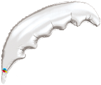 "36"" Microfoil Palm Frond-Silver  (5 ct.)"