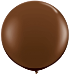 3' Round Chocolate Brown (2 count) Qualatex