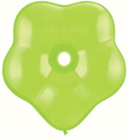 "6"" Geo Blossom - Lime Green (50 count) Qualatex"