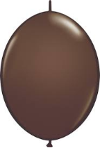 "6"" Qualatex Quick Links - Chocolate Brown (50 ct)"