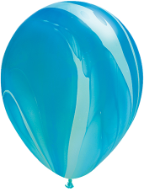 "11"" Round Blue Rainbow Super Agate (25 count) Qualatex"