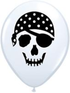 "5"" Round Pirate Skull (100 count )"