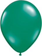 "11"" Round Emerald Green (100 count) Qualatex"