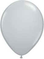 "11"" Round Gray (100 count) Qualatex"