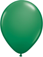 "9"" Round Green (100 count) Qualatex"