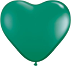 "6"" Heart Emerald Green (100 count) Qualatex"